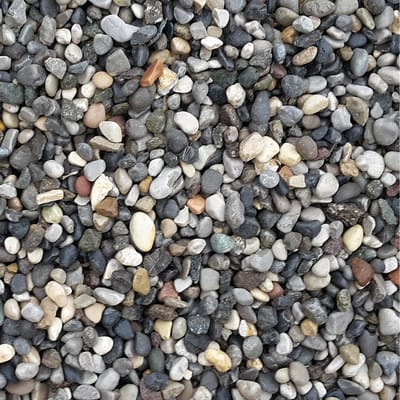 ghiaia, sabbia, mista e vagliata sfusa