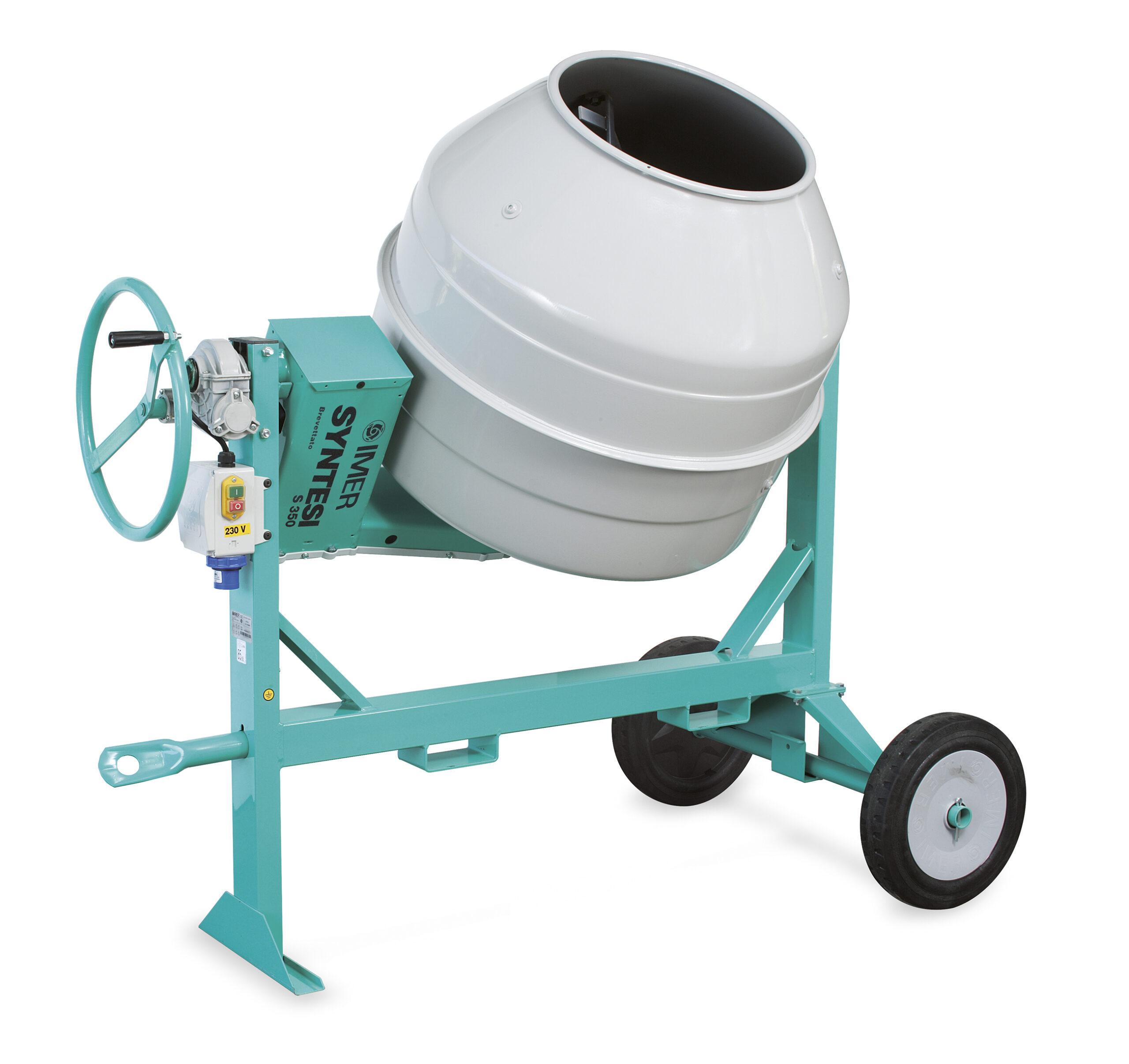 Betoniere con sistema di trasmissione con cinghia ad alta resistenza ed ingranaggi d'acciaio in bagno d'olio