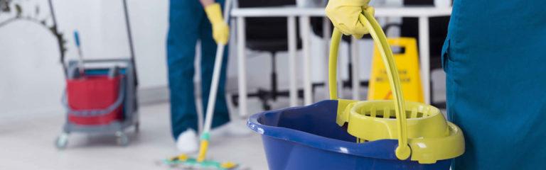 pulizia e manutenzione degli ambienti, detergenti, bidoni e spugne, guanti e tergivetri